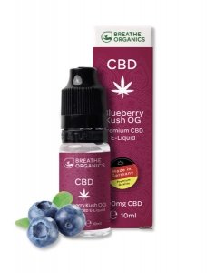 Breathe Organics CBD Liquid Blueberry Kush Geschmack