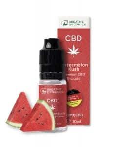 Breathe Organics CBD Liquid Watermelon Kush Geschmack